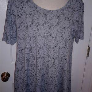 Lularoe Perfect tee shirt. Unicorn alert!! Bears!!